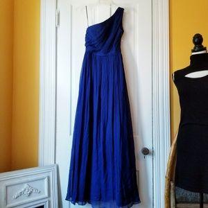 J. Crew Silk Chiffon Bridesmaid Dress One Shoulder